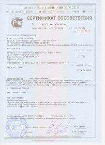 Сертификат соответствия Пласвин 58 и 70